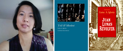 Luisa A. Igloria and two of her most recent books