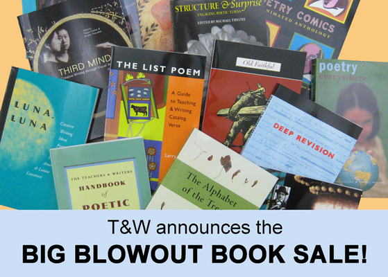 Teachers & Writers Collaborative book sale!